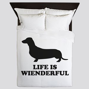 Life Is Wienderful Queen Duvet