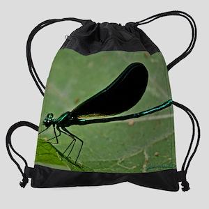 EmeraldDrgn1_cal copy Drawstring Bag