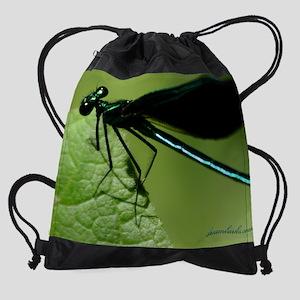 EmeraldDrgn2_cal copy Drawstring Bag