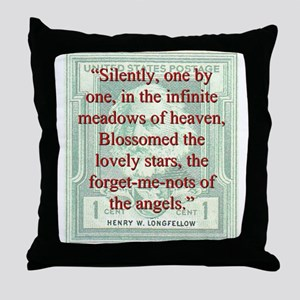 Silently One By One - Longfellow Throw Pillow