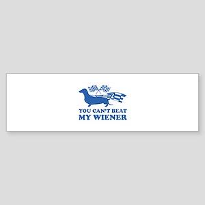 You can't beat my wiener Sticker (Bumper)