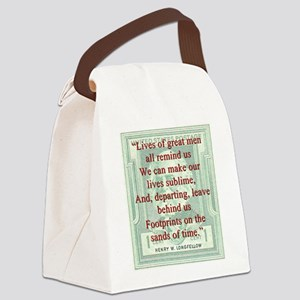 Lives Of Great Men - Longfellow Canvas Lunch Bag