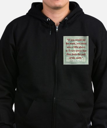If You Would Hit The Mark - Longfellow Zip Hoodie