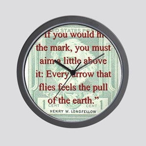 If You Would Hit The Mark - Longfellow Wall Clock
