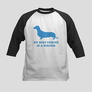 My Best Friend Is A Wiener Kids Baseball Jersey