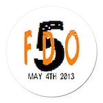 FDO 5 Round Car Magnet