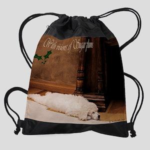 Bearskinrug00011christmas version c Drawstring Bag