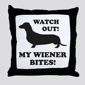 My Wiener Bites! Throw Pillow