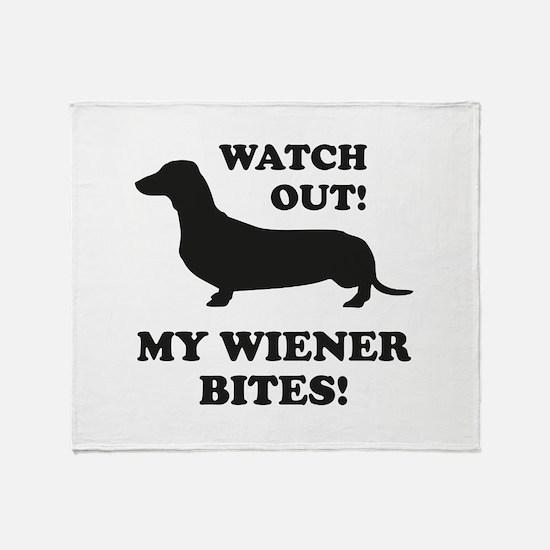 My Wiener Bites! Stadium Blanket