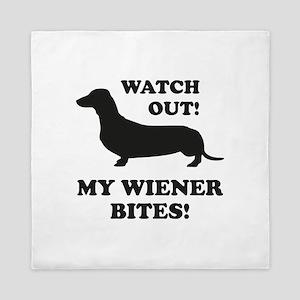 My Wiener Bites! Queen Duvet