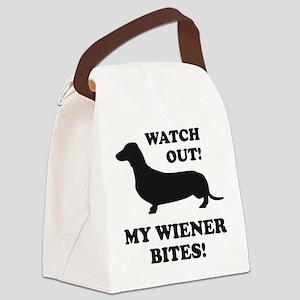 My Wiener Bites! Canvas Lunch Bag
