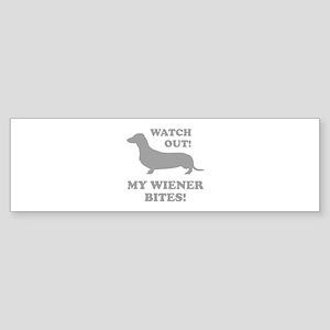 My Wiener Bites! Sticker (Bumper)