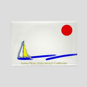 Torrey Pines Rectangle Magnet