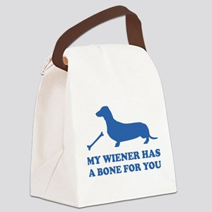 My Wiener Has A Bone For You Canvas Lunch Bag