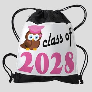 Class of 2028 Owl Drawstring Bag