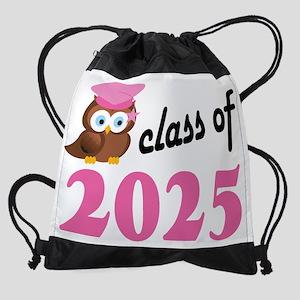 Class of 2025 Owl Drawstring Bag