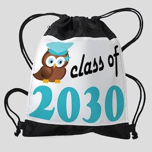 Class of 2030 Owl Drawstring Bag