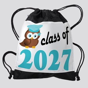 Class of 2027 Owl Drawstring Bag