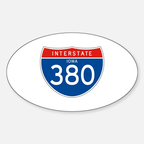Interstate 380 - IA Oval Decal