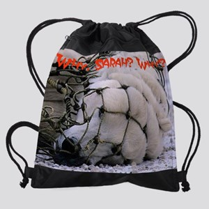bear net2 Drawstring Bag