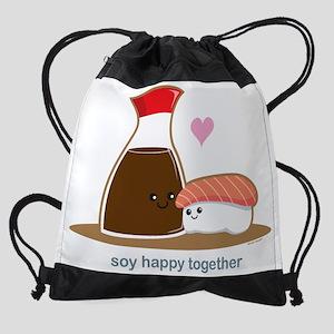 Soyhappytogether Drawstring Bag