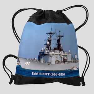 2-scott calendar Drawstring Bag