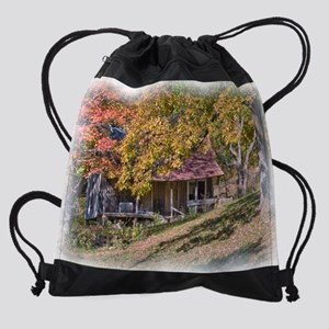 11-5x9 calendar rustic home Drawstring Bag