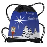 11x9  Calendar greetings.png Drawstring Bag