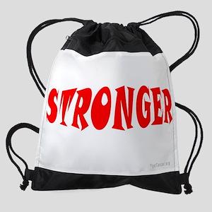 8 x 10 - Stronger Than Cancer (dark Drawstring Bag