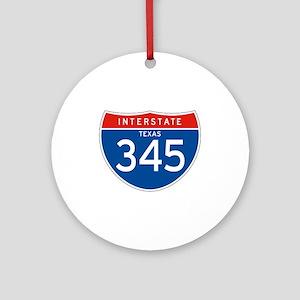 Interstate 345 - TX Ornament (Round)