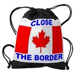 BORDER CANADA.jpg Drawstring Bag