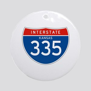 Interstate 335 - KS Ornament (Round)