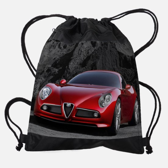 July  Alfa Romeo.jpg Drawstring Bag