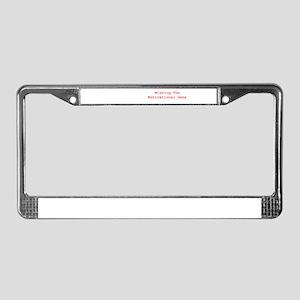 Motivational Gene License Plate Frame