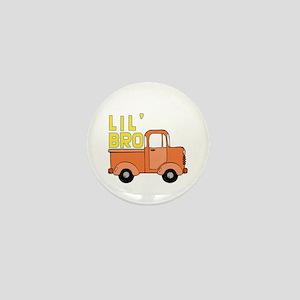 Orange Truck Lil' Bro Mini Button