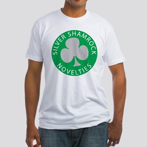 Silver Shamrock Fitted T-Shirt
