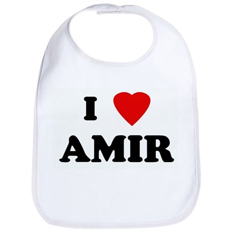 I Love AMIR Bib