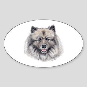 Keeshond Oval Sticker