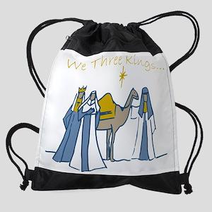 We Three Kings Drawstring Bag