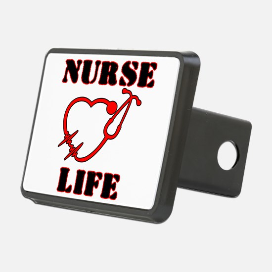 Nurse Life with heart stet Hitch Cover
