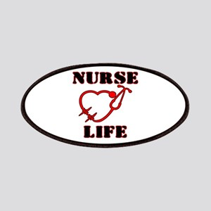 Nurse Life with heart stethoscope Patch