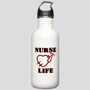 Nurse Life with heart Stainless Water Bottle 1.0L