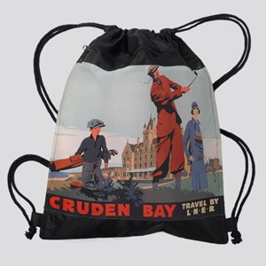 Cruden Bay, Aberdeen, Scotland , Go Drawstring Bag