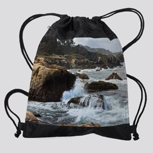 Pt Lobos, Ca Drawstring Bag