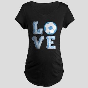 Love Soccer Maternity T-Shirt