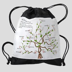 myfamily tree Drawstring Bag