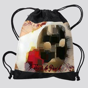 ponr paint Drawstring Bag