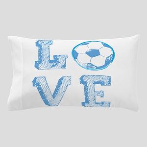 Love Soccer Pillow Case