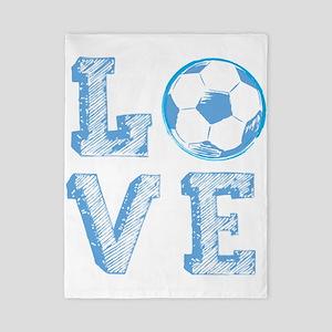 Love Soccer Twin Duvet Cover