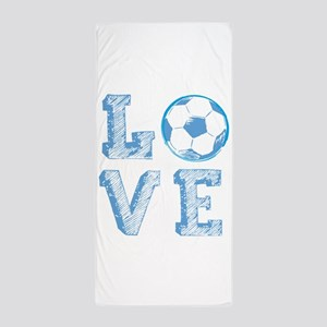 Love Soccer Beach Towel